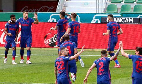 Атлетико Мадрид се измъкна на косъм срещу Елче