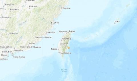 Земетресение с магнитуд 5,4 разтърси Тайван