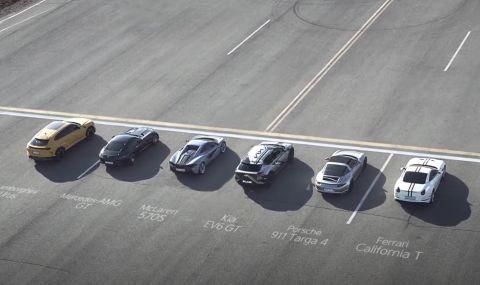 Новата ел. Kia победи Lamborghini, Ferrari, Porsche и AMG в драг надпревара (ВИДЕО)