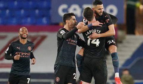Манчестър Сити дръпна с 10 точки пред Юнайтед и Лестър в Англия