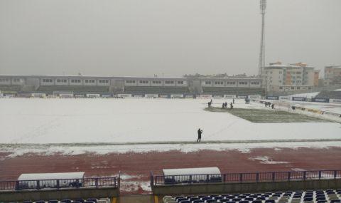 Снегът отложи мач от Втора лига заради снега, Етър - Царско село е под въпрос