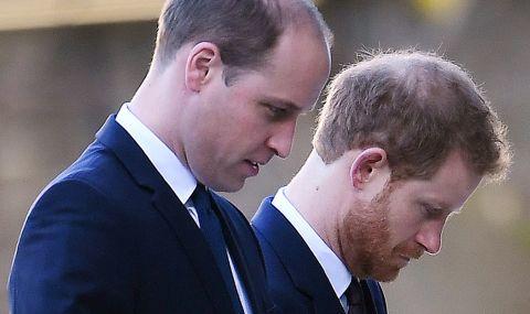 Какво си казаха отчуждените принцове Хари и Уилям на погребението на дядо им?