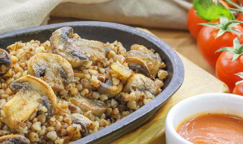 Рецепта за вечеря: Елда с гъби - 1