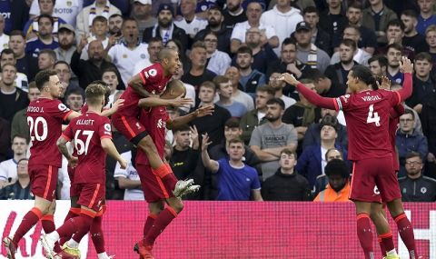 """Класата на Ливърпул си каза думата срещу Лийдс, но """"червените"""" дадоха жертва - 1"""