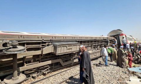 Най-малко 11 загинали и близо 100 ранени след дерайлиране на влак в Египет