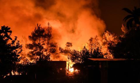 Големи пожари на гръцки острови