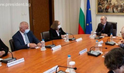 Радев се срещна с конституционни съдии от Северна Македония