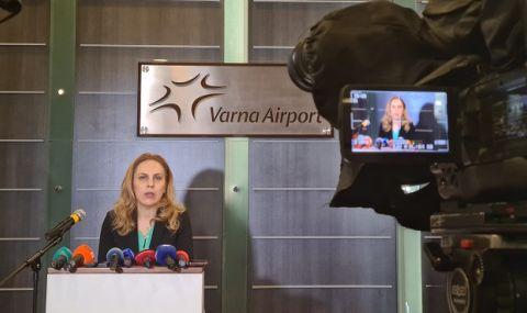 Николова във Варна: Изплатихме 3,5 млн. лв. на туроператори за чартърни полети
