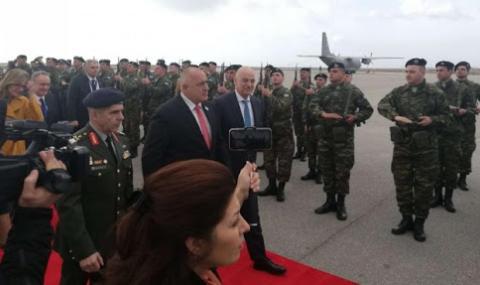Борисов пристигна в Александруполис ВИДЕО