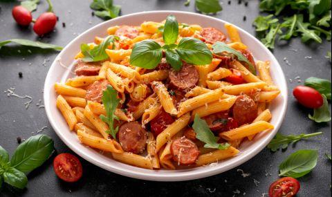 Рецепта за вечеря: Паста с наденица - 1
