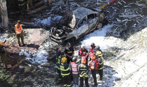 Израелците разрушиха ключова за Газа сграда