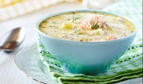 Рецепта за вечеря: Рибена чорба от сьомга със застройка