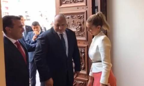 Защо Борисов разцелува руса македонка в Скопие? ВИДЕО