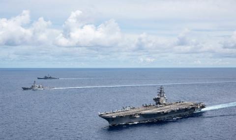 Група американски кораби тръгнаха към Гърция