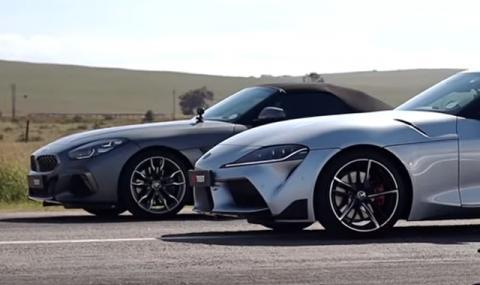 Кой от близнаците е по-бърз: Toyota Supra или BMW Z4 (ВИДЕО)