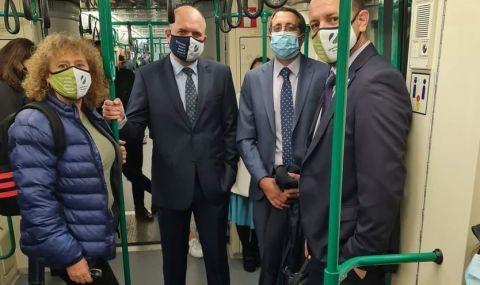 Четирима депутати отидоха на работа с метрото - 1