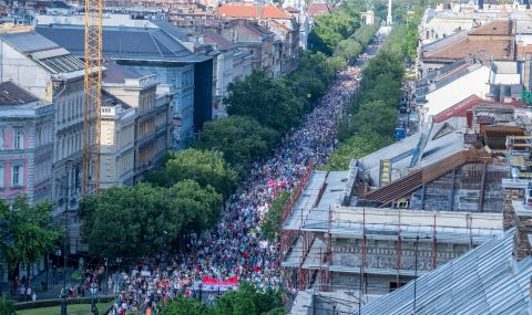 Граждани протестираха в Унгария