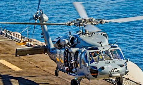 Военен хеликоптер на САЩ се разби край бреговете на Сан Диего - 1