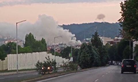 Голям пожар в центъра на Благоевград - 1