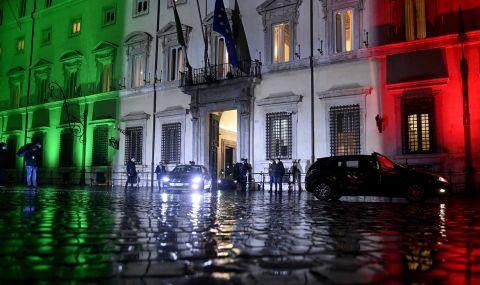 Италия избегна кризата, Драги състави правителство