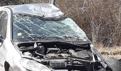 Тежка катастрофа край Дебелец, загинал е шофьор на лек автомобил