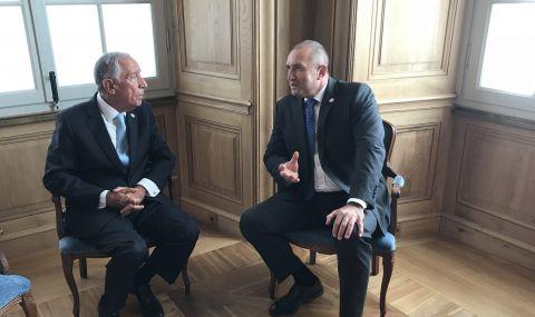 Румен Радев посрещна президента на Португалия пред