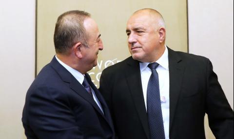 Топла среща между Борисов и Мевлют Чавушоглу ВИДЕО+СНИМКИ