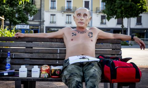 Протест преди срещата на Путин с Байдън
