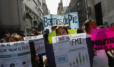 Големи протести в Аржентина