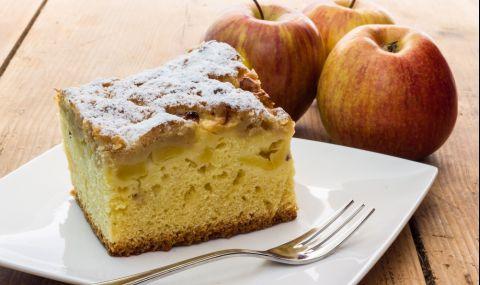 Рецепта на деня: Икономичен кекс с ябълки и орехи