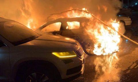 Запалиха автомобила на спортен журналист (ВИДЕО)