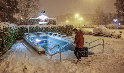 Зима! Мадрид не приема полети заради силен сняг