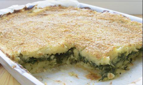 Рецепта за вечеря: Огретен с картофи и спанак
