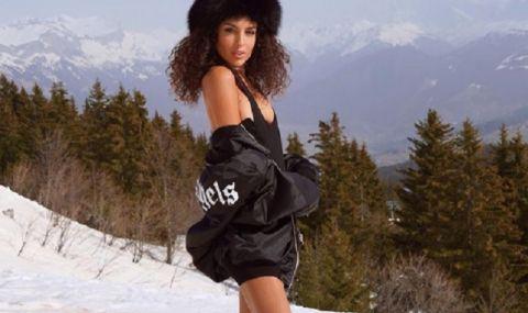Годеницата на италиански национал остана по бельо в снега (СНИМКИ)