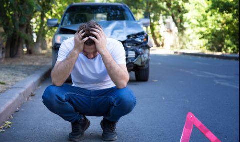 Шофьор откачи след инцидент и разби главата си в асфалта - 1
