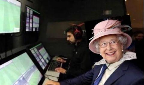 UEFA EURO 2020 Креативни фенове: Кралица Елизабет II замесена в дузпата, разтресла Европа снощи