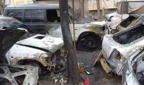 Огнена стихия изпепели куп коли в Благоевград