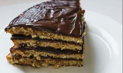 Рецепта на деня: Бисквитена торта с шоколадов ганаш
