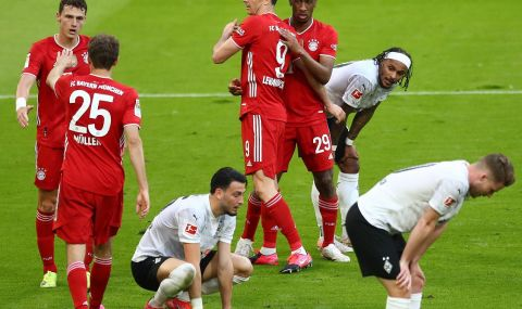 Байерн Мюнхен разнебити Борусия Мьонхенгладбах и отпразнува титлата