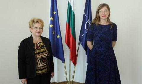 Захариева се срещна с новия румънски посланик