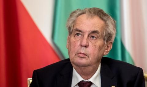 Президентът на Чехия очаква Майк Помпео