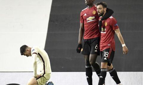 Манчестър Юнайтед унищожи Рома и е почти на финал в Лига Европа