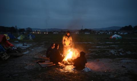 Бой в бежански лагер на остров Лесбос