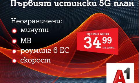 А1 пусна първия 5G план у нас – А1 Unlimited вече предлага неограничени мегабайти на максимална скорост и в 5G