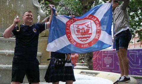 UEFA EURO 2020: Шотландци вдигнаха на крак полицията в Лондон