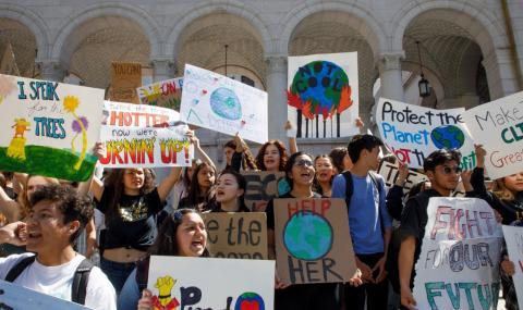 Протести и арести в САЩ заради климата