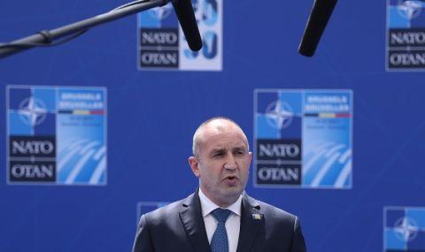 Радев в Брюксел: Основен фактор за сигурността на държавите в НАТО е единството