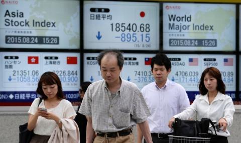 """""""Черен понеделник"""" за азиатските финансови пазари"""