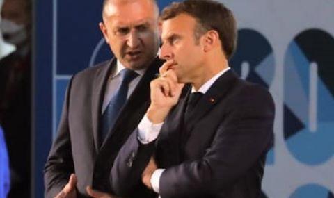 Радев разговаря с Макрон по време на Срещата на върха на НАТО в Брюксел