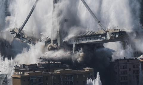 Взривиха моста-убиец в Генуа (СНИМКИ)